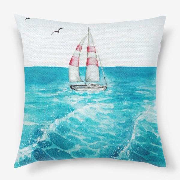 Подушка «корабль в море»
