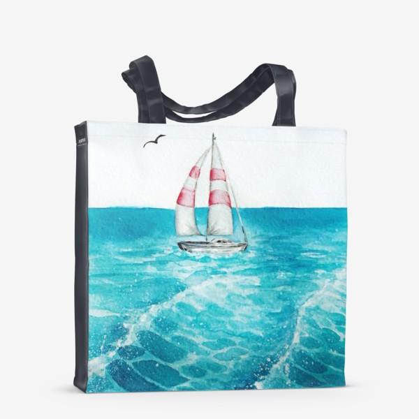 Сумка-шоппер «корабль в море»