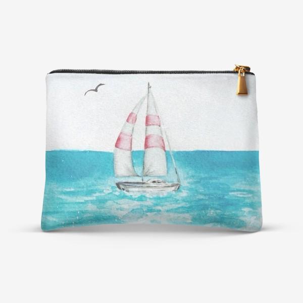 Косметичка «корабль в море»