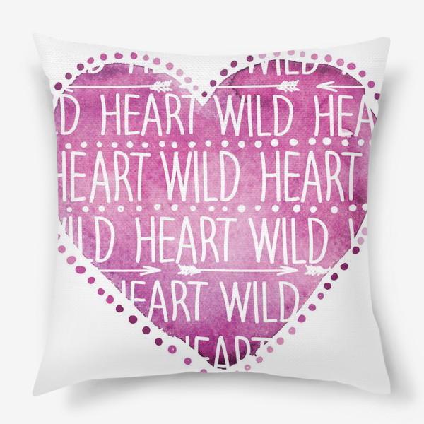 Подушка «wild heart»