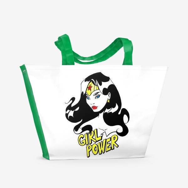 Пляжная сумка «Wonder Woman. Попарт/Комикс»