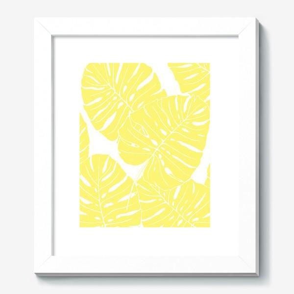Картина «Монстера - паттерн из листьев (желтый)»