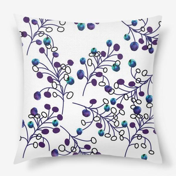 Подушка «синие ягодки»