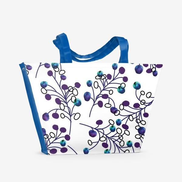 Пляжная сумка «синие ягодки»
