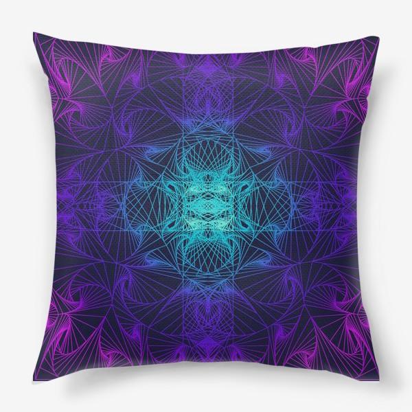 Подушка «Оп-арт, синий»