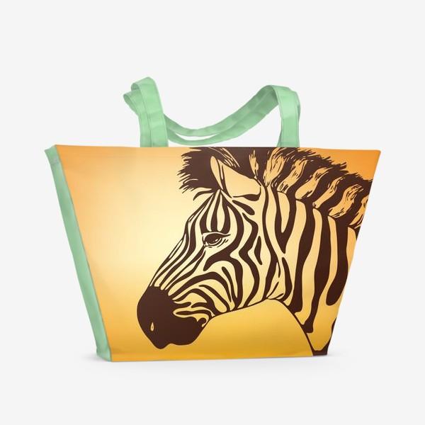 Пляжная сумка «зебра»