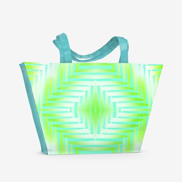 Пляжная сумка «бирюзовый паттерн»