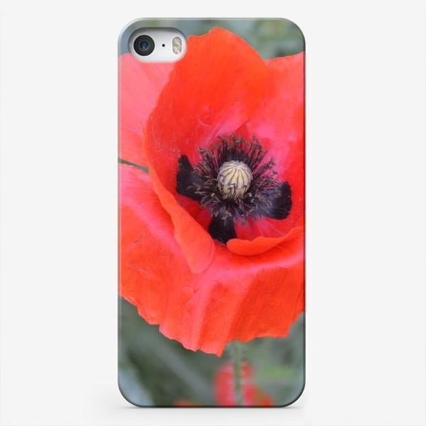 Чехол iPhone «Алый мак»