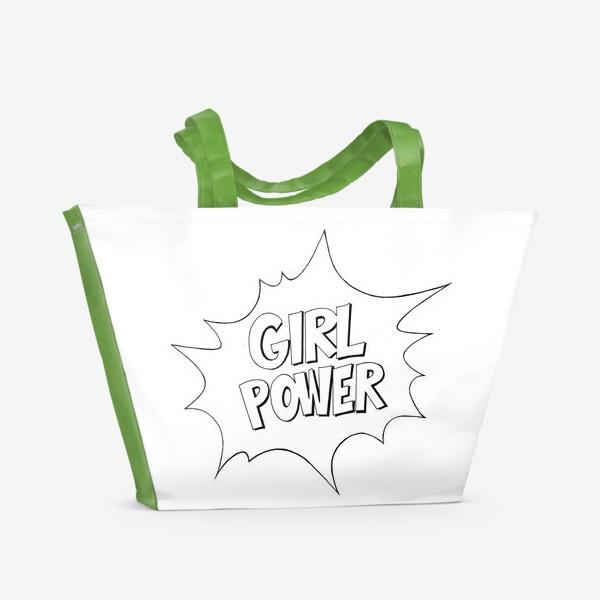 Пляжная сумка «Girl Power. Попарт #2»