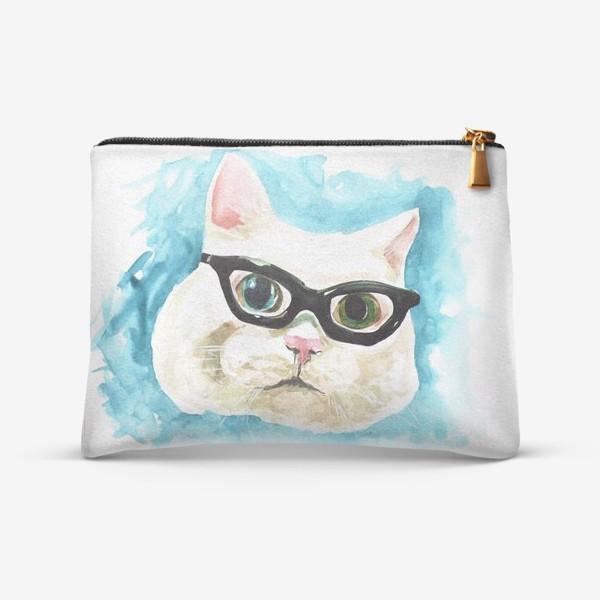 Косметичка «Белый кот профессор»