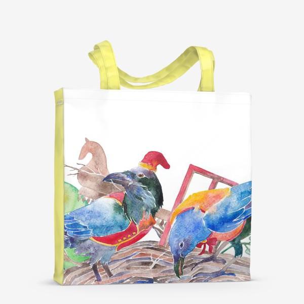 Сумка-шоппер «Вороны строят хоромы»