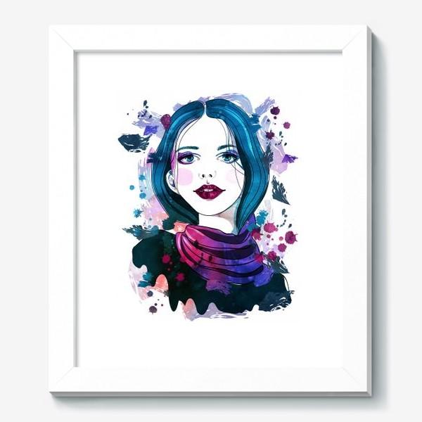 Картина «Девушка с синими волосами»