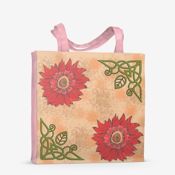 Сумка-шоппер «Панно цветочное кельтские узоры »