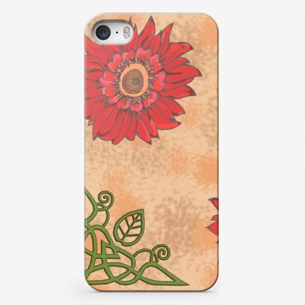 Чехол iPhone «Панно цветочное кельтские узоры »