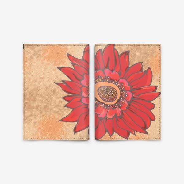 Обложка для паспорта «Панно цветочное кельтские узоры »