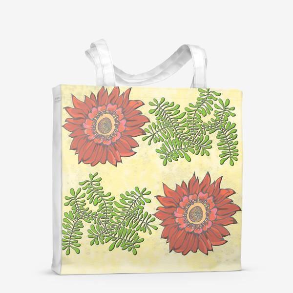 Сумка-шоппер «Пано цветочное»