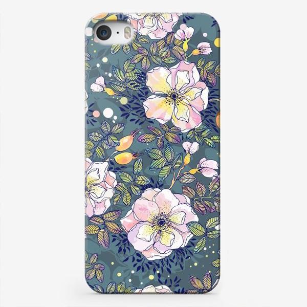 Чехол iPhone «Цветущий шиповник. Blooming dog rose»