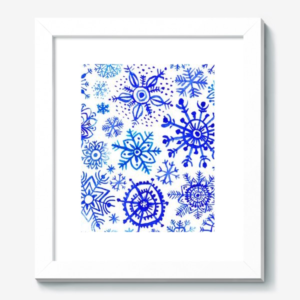 Картина «Снежинки гжель»