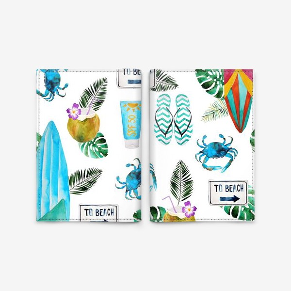 Обложка для паспорта «Серфинг»