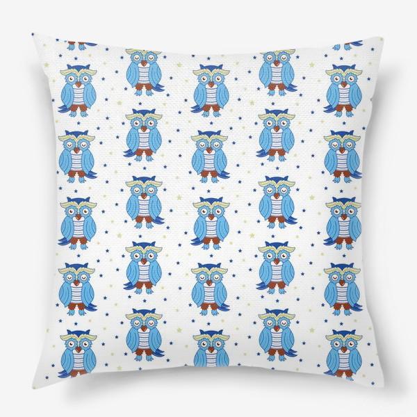 Подушка «Синие совы»