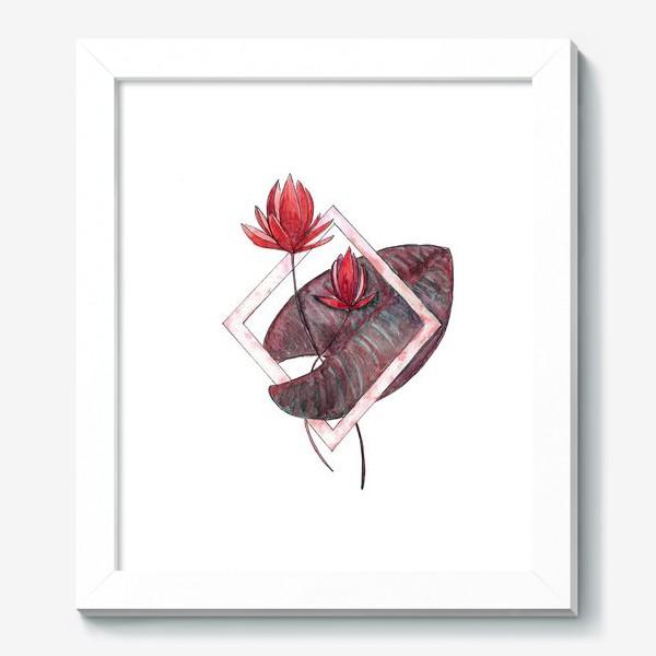 Картина «Цветочная геометрия: Красная кувшинка»