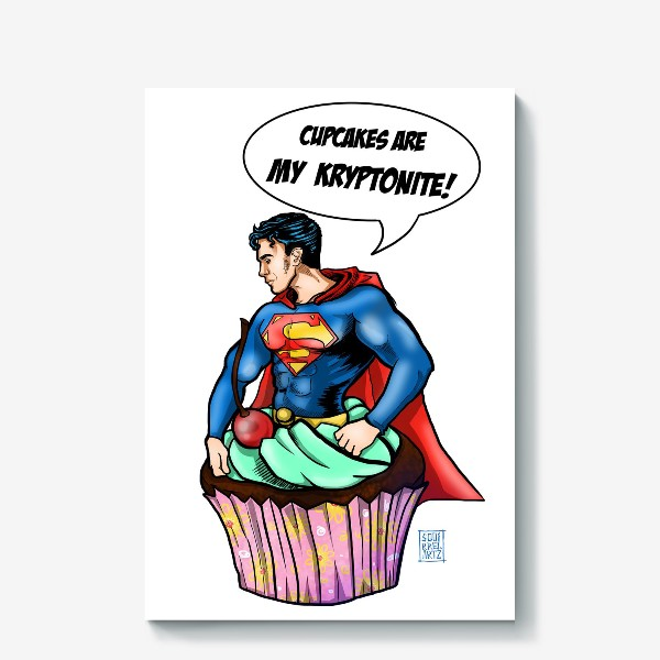 Холст «Супермен»