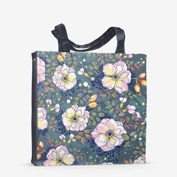 Сумка-шоппер «Цветущий шиповник. Blooming dog rose»