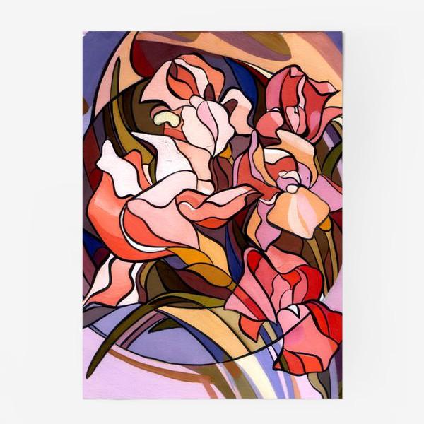 Постер «Ирисы в стиле модерн»