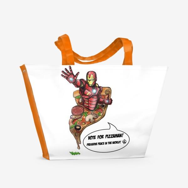 Пляжная сумка «Железный человек»