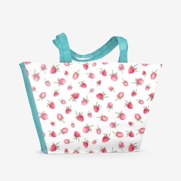 Пляжная сумка «Земляника»