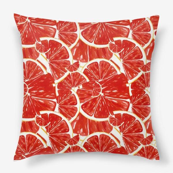 Подушка «Сочные грейпфруты»