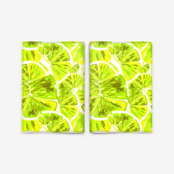 Обложка для паспорта «Сочный лимон»
