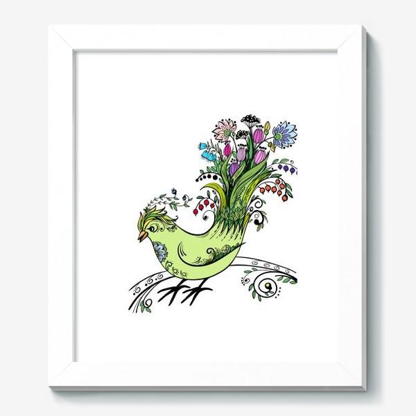 Картина «Птичка - букет»