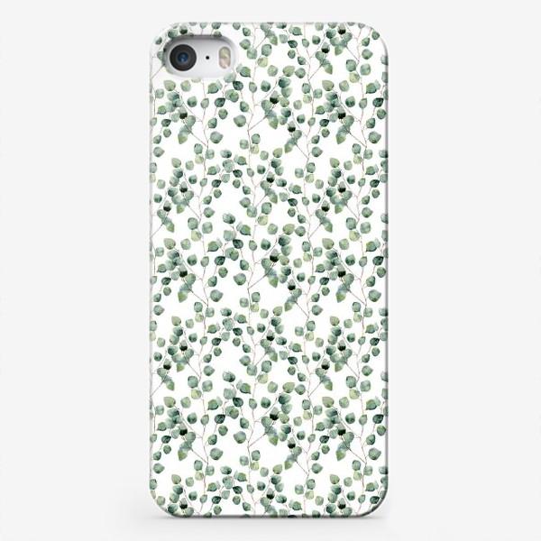 Чехол iPhone «Акварельный эвкалипт silver dollar»