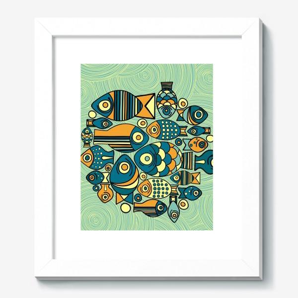 """Картина «Подводный мир. Орнамент """"Рыбы""""»"""