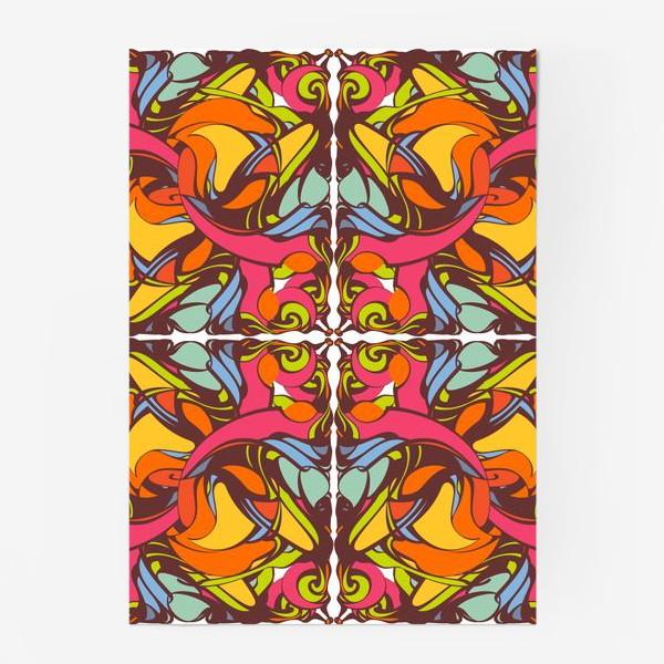 Постер «Абстрактный оранжевый узор»