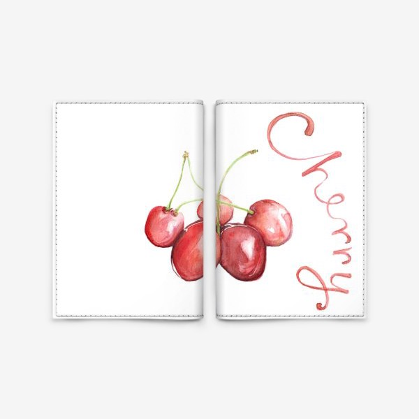 Обложка для паспорта «Вишня Черешня Cherry»