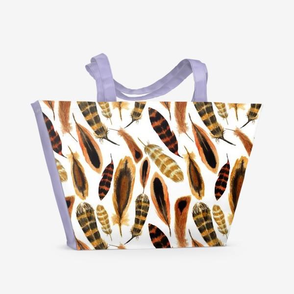 Пляжная сумка «Рыжие перья»