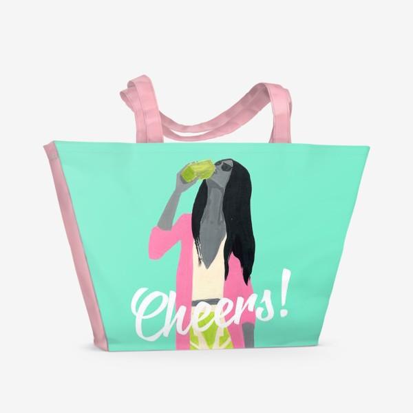 Пляжная сумка «Cheers! »