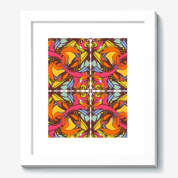 Картина «Абстрактный оранжевый узор»