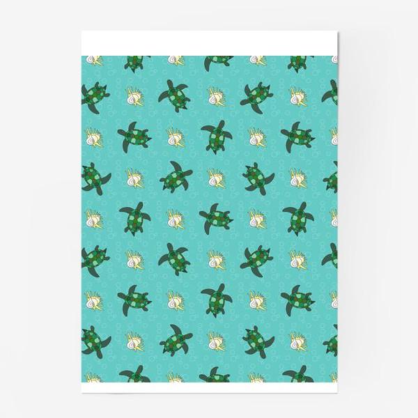 Постер «Черепахи и раковины»