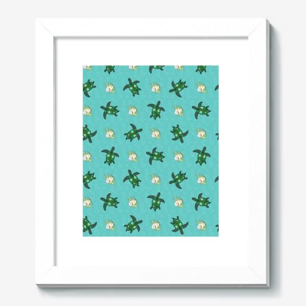 Картина «Черепахи и раковины»