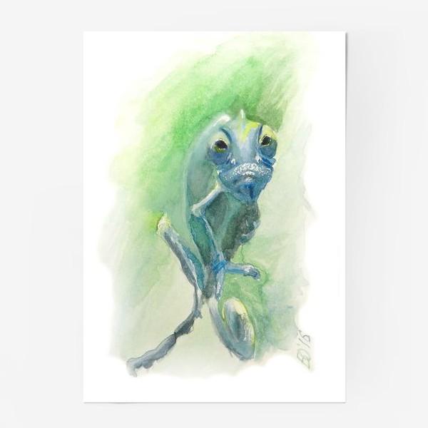 Постер «Синий хамелеон»