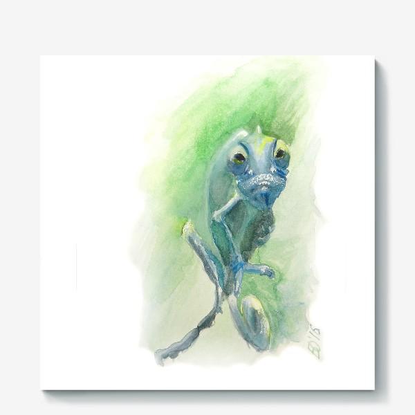 Холст «Синий хамелеон»