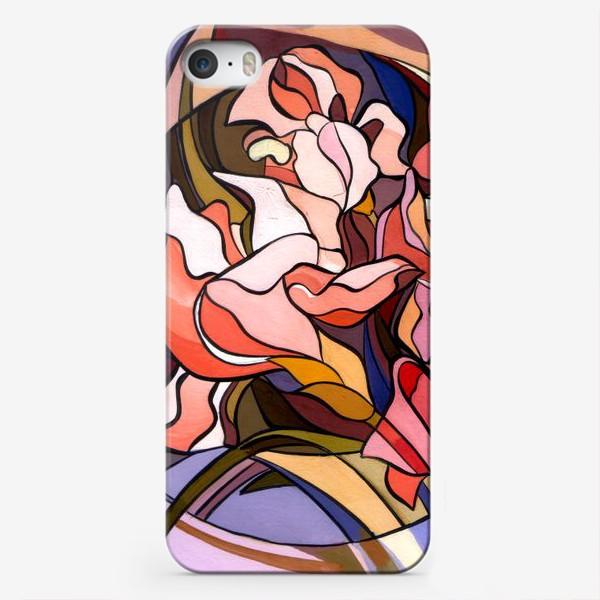 Чехол iPhone «Ирисы в стиле модерн»