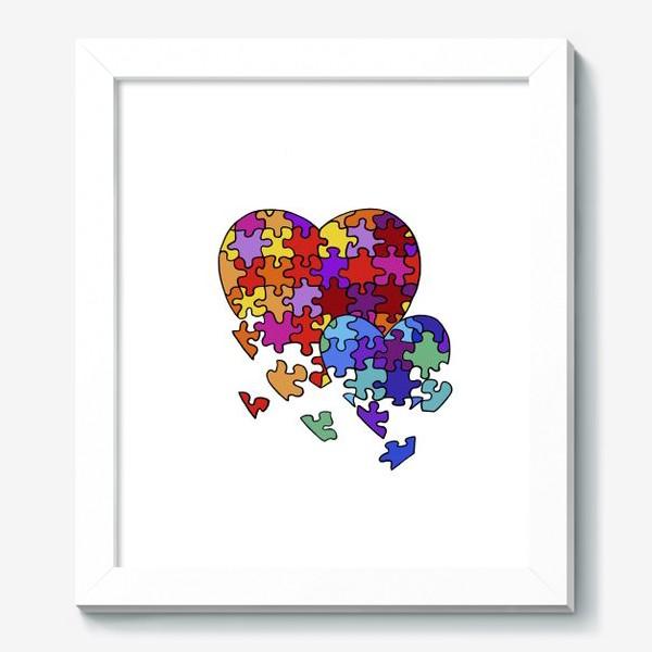 Картина «Сердца-пазлы»