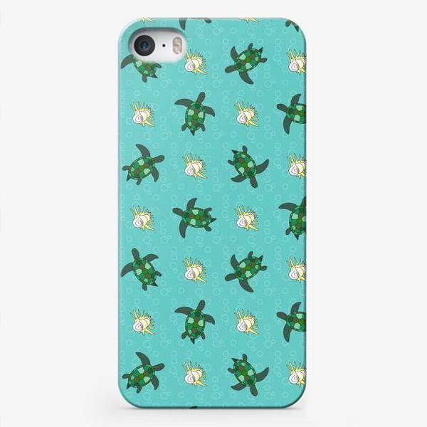 Чехол iPhone «Черепахи и раковины»