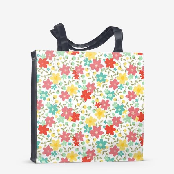 Сумка-шоппер «Яркие летние цветы и травы»