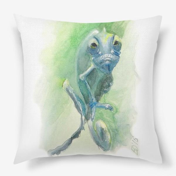 Подушка «Синий хамелеон»
