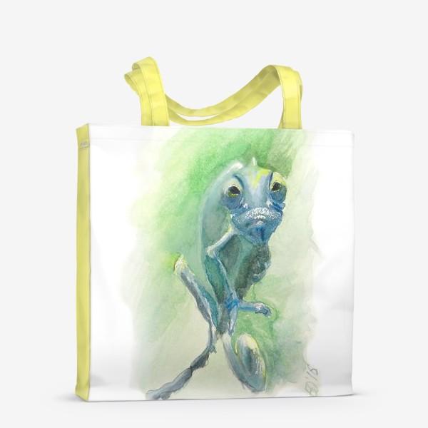 Сумка-шоппер «Синий хамелеон»